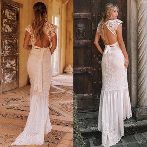 Spell And The Gypsy Brooklyn Bridal Lace Long Gown